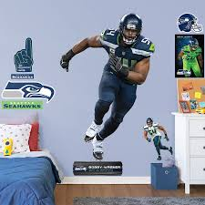 Seattle Seahawks Bobby Wagner Fathead 12 Pack Life Size Removable Wall Decal