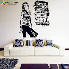 Banksy Vinyl Wall Decal Want To Achieve Greatness Graffiti Street Art Sticker Decor Banks Style Home Decoration Buy At The Price Of 9 99 In Aliexpress Com Imall Com