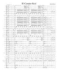 El Camino Real (The Royal Highway) by Alfred Reed (Complete) Sheet music  for Trumpet (In B Flat), Trombone, Flute, Clarinet (In B Flat) & more  instruments (Concert Band) | Musescore.com