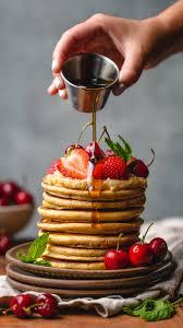 خلفية اكل بدقة عالية للعسل مع الفطائر المحلاة الامريكية Hd