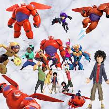 Baymax Anime Wall Decals Big Hero 6 Movie Figures Diy 3d Vinyl Stickers Kids Bedroom Nursery Decoration Marvel Poster 60 30cm Marvel Poster 3d Vinyl Stickersanime Wall Decal Aliexpress