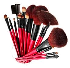 piece cosmetic brush set with pouch
