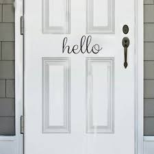 Hello Door Decal Quotes Black White Vinyl Wall Sticker Wall Art Lettering Decor Removable Home Decor Simple Design Style Vinyl Wall Stickers Designer Wall Stickerswall Sticker Aliexpress