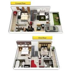 duplex house plans 3d view in bhopal