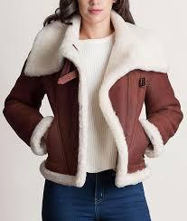 sheepskin shearling jacket womens