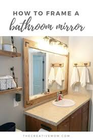 how to frame a bathroom mirror the
