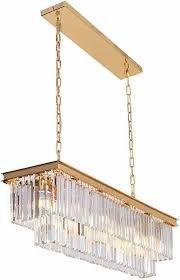 modern rectangular crystal chandelier