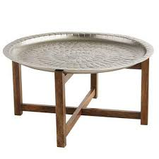 silver moroccan tray coffee table