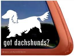 Dachshund Dog Stickers Decals Nickerstickers