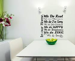 Wall Decor Plus More Wdpm3381 We Do Real Mistakes Happy Love Forgiveness We Do Family Wall Decal Collage Quote 23 X 23 Inch Black Amazon Com