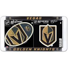 Wincraft Vegas Golden Knights License Plate Frame Magnet Multi Use Decal Set