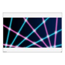 Retro Laser Photo Backdrop 80s 90s Neon Lights Wall Decal Zazzle Com