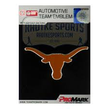 Officially Licensed Texas Longhorns Logo 3x4 Ncaa Car Emblem With Adhe Super Sports Center