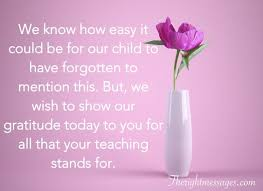 thank you teacher messages quotes from students and parents