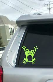 Frog Decal Froggie Decal Frog Car Decal Laptop Decal Etsy