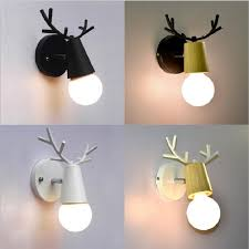2020 Nordic Wall Lamp Wood Led Deer Head Wall Lights Bedroom Kids Room Sconce Corridor Hallway Bedside Lamp Luminaire Light Fixtures Rw139 From Ledleader 20 52 Dhgate Com