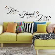 Roommates Live Love Laugh Peel And Stick Wall Decals Walmart Com Walmart Com