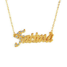 gold plated name necklace fatima