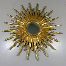 big vintage sunburst mirror 1950s
