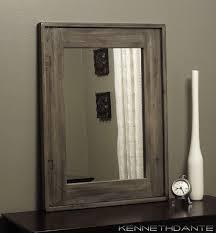 rustic mirror distressed wood weathered