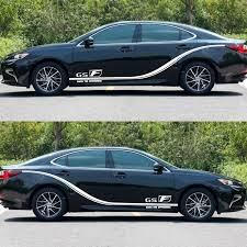 Car Side Body Decal Stickers For Lexus Gs F For Hatchback Sedan Car Decals Diy Car Decoration Stickers Auto Accessories 230cm Car Stickers Aliexpress
