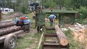 our homemade bandsaw sawmill sure cuts