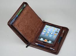 ipad mini leather business portfolio