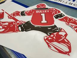 Hockey Wall Decal Hockey Goalie Decal Custom Name Custom Etsy