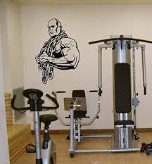 Amazon Com Gym Man Body Builder Brawn Sport Dumbbells Chain Kids Room Children Stylish Wall Art Sticker Decal G9364 Home Kitchen