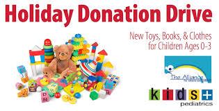 holiday donation drive kids plus