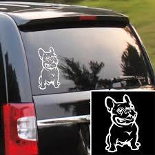 Adhesive 3d Stickers French Bulldog Dog Car Sticker Cars Decal Custom