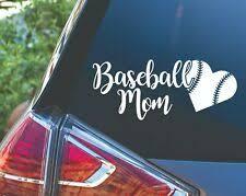 Baseball Mom Heart Laces Sports Car Truck Planner Tumbler Decal Sticker Ebay