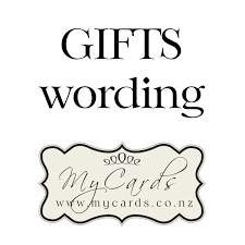 gifts on wedding invitations