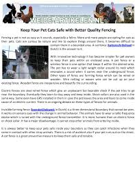 Calameo Keep Your Pet Cats Safe With Better Quality Fencing