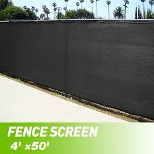 Jaxpety Black 4 X 50 Fence Windscreen Privacy Screen Shade Cover Fabric Mesh Garden Tarp Walmart Com Walmart Com
