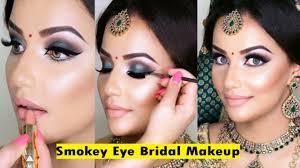 indian bridal makeup tutorial smokey