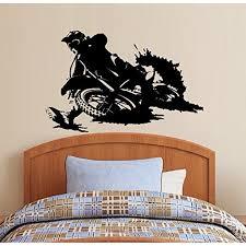 Decal Motocross Dirt Bike Children Boys Room 2 Wall Decal 20 X 27 Walmart Com Walmart Com