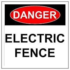 Danger Electric Fence Sign Metal Aluminium Health Safety Warning Uv Signs Ebay