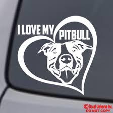Decals Emblems Licence Frames Decals Stickers Pitbull Mom Vinyl Decal Sticker Car Window Bumper Wall I Love My Rescue Dog Fibsol Com