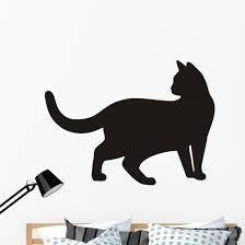 Cat Silhouette Wall Decal Wallmonkeys Com