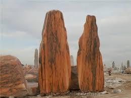 wanxia red marble garden rock