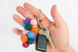 diy keychain idea easy wool bead