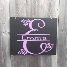 Name Sign For Kids Hanging Chalkboard Sign Monogram Decor Kids Room Sign With Name Dorm Room Sign Hanging Chalkboard Sign Kids Room Sign Hanging Chalkboard