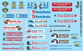 Home Town Sponsors 3 Decal Sheet Model Car Decals 1 24 1 25 Scale Decals