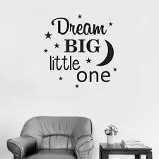 Dream Big Little One Wall Decals For Kids Kids Wall Stickers And Decals