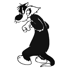 Sylvester The Cat 6 Decal Sticker