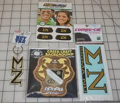 Sigma Nu Lot Oak Walnut Wood Decoration Key Tag Eye Black Car Stickers Ebay