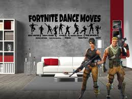Inspired By Fortnite Dance Moves For Gamer Wall Decal Sticker 35 2 W Lucky Girl Decals
