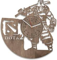 Amazon Com Nadezhdashop Dota 2 Wall Decals Game Dota 2 Wooden Wall Clock For Gamer Dota 2 Wall Clock Large Modern Idea Gift Handmade Clock Wall Dota 2 Dota 2 Living Room Decorations