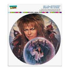 Labyrinth Crystal Ball Goblin King Jareth David Bowie Automotive Car Window Locker Circle Bumper Sticker Walmart Com Walmart Com